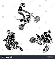 motocross tattoo collection stock vector 255315247 shutterstock