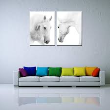 Living Room Art Canvas by Framed Canvas Art Prints White Horses Living Room Wall Art Canvas