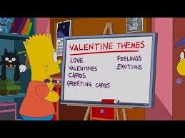 simpsons valentines day card the simpsons bart s day s plan black bart