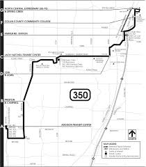Plano Map Dart Org Route 350 Map