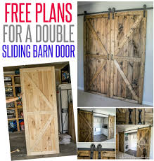 Sliding Barn Door Construction Plans Diy Double Barn Door Plans Infarrantly Creative