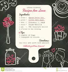 Design Card Wedding Invitation Recipe Card Creative Wedding Invitation Design With Cooking