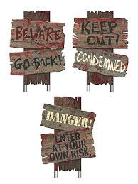 cemetery sidewalk signs decoration halloween yard sign