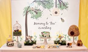 to bee baby shower birds and bees baby shower idea popsugar