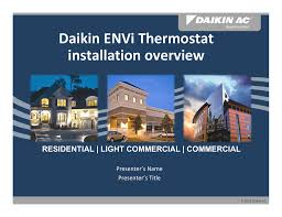 daikin envi user manual