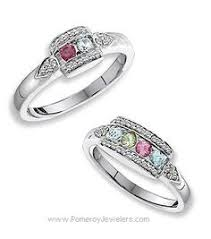 mothers rings 14k gold personalized birthstone diamond acc s ring 1 to