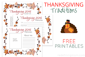 thanksgiving traditions free printables family memories