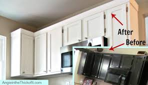 kitchen cabinets top trim adding moulding to kitchen cabinets before after