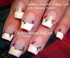 easy christmas nails diy traditional xmas lights nail art design