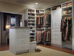 image of popular custom closet design narrow deep coat closet
