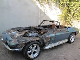 cheap corvette wrecked wednesday for 15 000 one corvette corvette