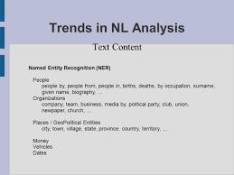trends in nl analysis jim critz university of new york in prague