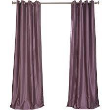 Plum Faux Silk Curtains Faux Silk Blackout Grommet Curtain Panel In Smokey Plum At Joss