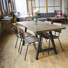 Dining Room Wood Tables Recycled Wood Table Reclaimed Wood Furniture Urban Industrial