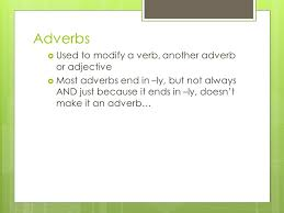 adverbs prepositions conjunctions and interjections ppt download