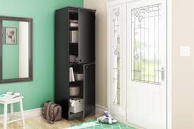 Narrow Storage Shelves by South Shore Morgan Narrow Storage Cabinet Pure Black Home
