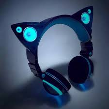 light up cat headphones light up cat ear headphones on the hunt