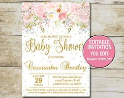girl baby shower girl baby shower invitation etsy