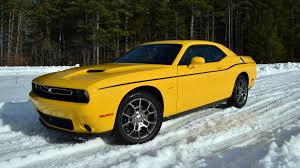 Dodge Challenger Yellow - 2017 dodge challenger gt all wheel drive driven in the snow and on