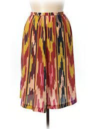 silk skirt moffatt 100 silk print yellow silk skirt size 8 80