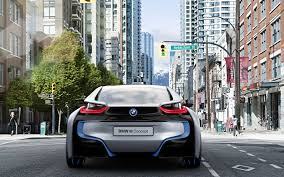 Bmw I8 Front - rear view bmw i8 front of traffic lights wallpapers i8
