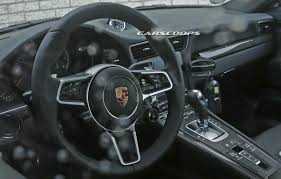 porsche carrera interior facelifted 2016 porsche 911 u0027s interior spied undisguised