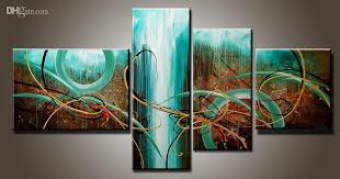 art modern abstract oil painting multiple piece canvas art sets green passion new arrivals with 56 99 set on topchinasupplier s dhgate com