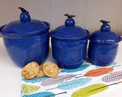 pottery kitchen canister sets pottery canister set etsy