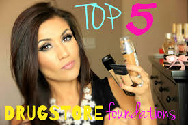 best 5 drugstore foundations for oily combo acne prone skin youtube