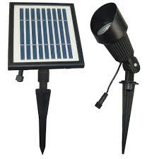 Home Depot Outdoor Solar Lights Solar Goes Green Solar Powered Black Outdoor Spotlight With 12
