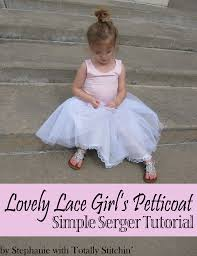 how to make a petticoat lovely lacy petticoat tutorial totally stitchin