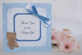 thank you for baby gift with many exles of handmade cards