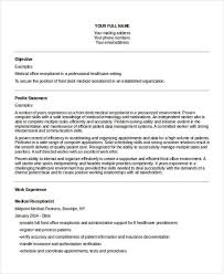 Resume For Medical Office Receptionist 26 Professional Administrative Resume Templates Free U0026 Premium