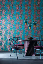 36 best dining room wallpaper ideas images on pinterest flamboyant trails of stylised rhododendron like flowers and leaves create a loose trellis effect on wallpaper designswallpaper ideasroom