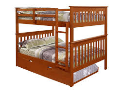 Amazoncom Bunk Bed Full Over Full With Trundle In Espresso - Donco bunk beds