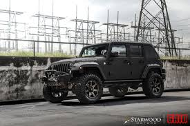 jeep wrangler matte black grid off road jeep