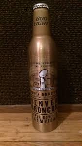 bud light aluminum bottles nfl bud light denver broncos super bowl 50 gold 16oz aluminum bottle