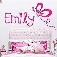 stickers chambre b b personnalis personnalisé papillons nom wall sticker fille enfants chambre