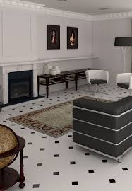 alaska octagonal floor tiles with black tile insert heritage