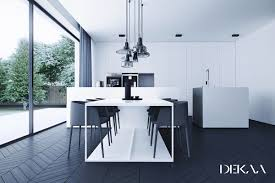 Modern Black And White Dining Table Dining Rooms That Mix Classic And Ultra Modern Decor
