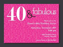 birthday invites chic 40th birthday party invitations design