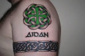 shamrock celtic knot tattoo design on wrist tattooshunter com