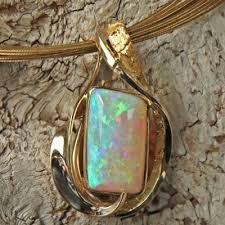 opal necklace price images Opal and alaskan gold nugget pendant alaskan gold nugget jewelry jpg
