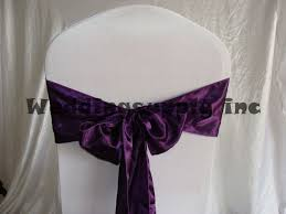 Bows For Chairs Aliexpress Com Buy 100 Plum Deep Purple Satin Chair Cover Sashes