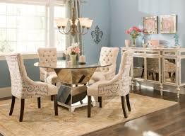 blue dining room ideas rectangle white table dining chair metal