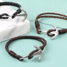 bracelet clasp images Men 39 s bracelet with stainless steel anchor clasp lisa angel jpg