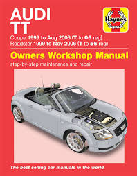 audi tt haynes manual repair manual workshop service manual 1999