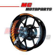 racing orange fluorescent rim wheel stickers gp2 for kawasaki