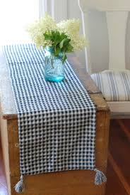 Navy Blue Table Runner Navy Blue And White Gingham Table Runner
