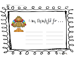 for make an i am thankful list